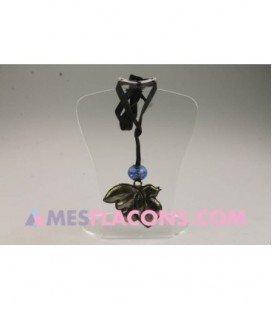 Pendentif - Oiseau argt & boule bleue