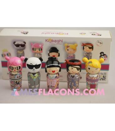 The mini art Kokeshi collection