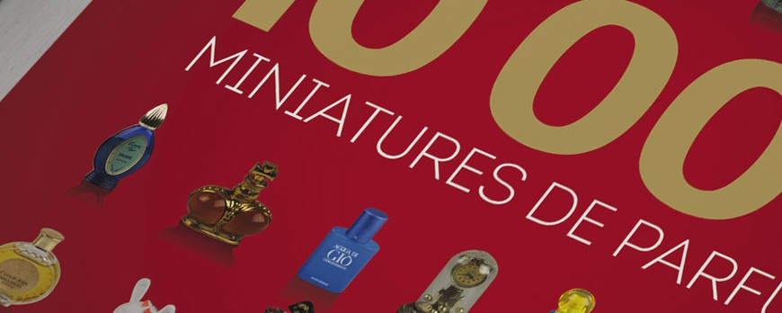 The book 10000 miniature perfume bottles by Jean-Michel COURSET